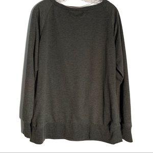 Under Armour Sweaters - UNDER ARMOUR GRAY SCOOP NECK SWEATSHIRT